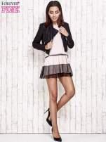 Różowa sukienka dresowa z kontrafałdami i tiulem w groszki                                  zdj.                                  5