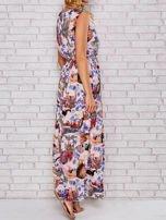 Różowa sukienka maxi z motywem leopard print                                  zdj.                                  1