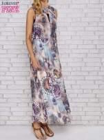 Różowa sukienka maxi z wycięciem na placach                                  zdj.                                  1