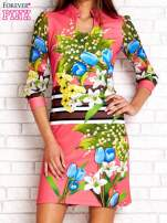 Różowa sukienka w kwiaty                                  zdj.                                  1