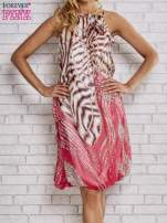 Różowa sukienka wzór leopard print                                  zdj.                                  1