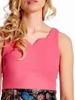 Różowa sukienka z kwiatowym dołem                                  zdj.                                  5