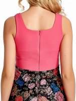 Różowa sukienka z kwiatowym dołem                                  zdj.                                  6