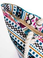 Różowa torba plażowa w azteckie wzory                                  zdj.                                  6