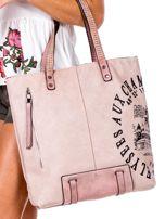 Różowa torba z nadrukiem                                   zdj.                                  2