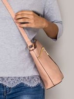 Różowa torebka ze złotymi suwakami                                  zdj.                                  2