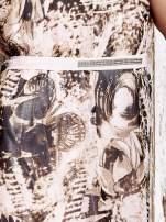 Różowa wzorzysta sukienka maxi z dżetami                                   zdj.                                  6