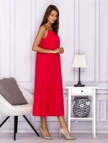 Różowa zwiewna sukienka maxi                                  zdj.                                  3