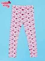Różowe legginsy dla dziewczynki z nadrukiem HELLO KITTY                                  zdj.                                  1