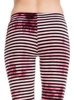 Różowe legginsy w paski z feketem tie-dye                                  zdj.                                  6