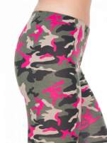 Różowe legginsy we wzór moro                                  zdj.                                  5