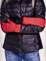 Brązowe rękawiczki z kokardą w stylu retro                                                                          zdj.                                                                         2