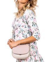 Różowo-beżowa torebka listonoszka ze skóry ekologicznej                                  zdj.                                  5