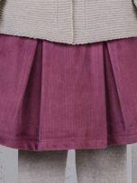 Różowo-beżowy ciepły niemowlęcy 3-częściowy komplet z sukieneczką i sweterkiem dla dziewczynki na co dzień i na specjalne okazje                                  zdj.                                  3