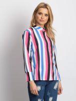 Różowo-biała koszula w paski                                  zdj.                                  1