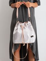 Różowo-srebrna torebka ze ściągaczem                                  zdj.                                  1