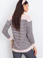 Różowo-szary sweter Oscar                                  zdj.                                  2