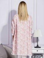 Różowy płaszcz we wzór kwiatowy                                  zdj.                                  2
