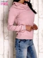 Różowy sweter z szerokim golfem                                                                          zdj.                                                                         3