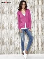 Różowy sweter zapinany na guziki Funk n Soul                                  zdj.                                  2