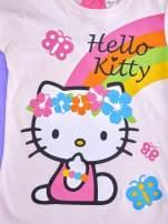 Różowy t-shirt dla dziewczynki nadruk HELLO KITTY                                                                          zdj.                                                                         4
