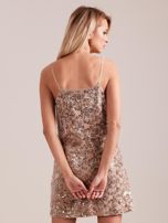 Beżowa sukienka mini                                   zdj.                                  2