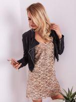 Beżowa sukienka mini                                   zdj.                                  7