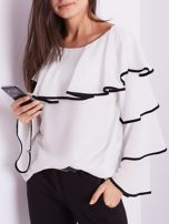 Biała bluzka z falbanami                                  zdj.                                  2