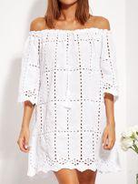 Biała sukienka hiszpanka z boho troczkiem i haftem                                  zdj.                                  10