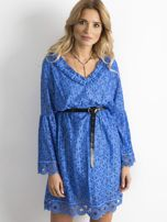Ciemnoniebieska koronkowa sukienka                                  zdj.                                  5