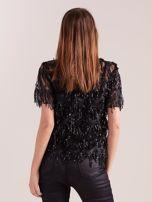 Czarna cekinowa bluzka                                  zdj.                                  4