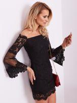 Czarna koronkowa sukienka                                  zdj.                                  7