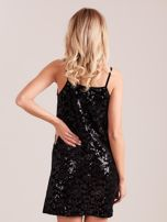 SCANDEZZA Czarna sukienka mini                                   zdj.                                  3