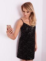 SCANDEZZA Czarna sukienka mini                                   zdj.                                  8