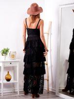 Czarna sukienka z falbanami                                  zdj.                                  2