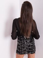 Czarna sukienka ze srebrnymi cekinami                                  zdj.                                  3
