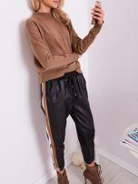 Czarne skórzane spodnie                                  zdj.                                  2