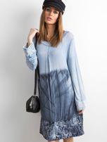 Sukienka z cekinami niebieska                                  zdj.                                  1