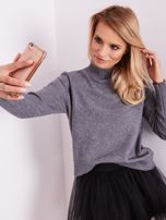 SCANDEZZA Szary sweter damski                                  zdj.                                  6