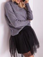 SCANDEZZA Szary sweter damski                                  zdj.                                  2