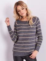 Szary sweter z błyszczącą nitką                                  zdj.                                  5