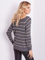 Szary sweter z błyszczącą nitką                                  zdj.                                  7