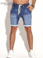 SCOTFREE Niebieskie jeansowe szorty męskie                                  zdj.                                  10