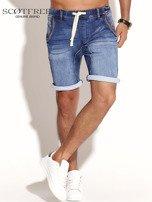 SCOTFREE Niebieskie jeansowe szorty męskie                                  zdj.                                  6