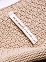 STRADIVARIUS Beżowy sweter z ozdobnym splotem                                                                          zdj.                                                                         3