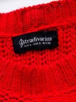 STRADIVARIUS Czerwony sweter z suwakiem z tyłu                                                                          zdj.                                                                         3