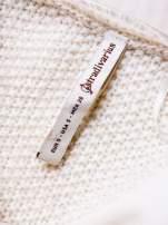 STRADIVARIUS Ecru długi sweter z łączonych materiałów                                  zdj.                                  3