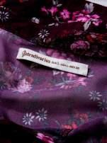 STRADIVARIUS Fioletowa koszula w kwiaty z węzłem