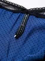 STRADIVARIUS Niebieska sukienka bieliźniana w groszki z koronkowym wykończeniem                                  zdj.                                  3