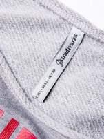 STRADIVARIUS Szara bluza cropped w stylu baseballowym                                  zdj.                                  3